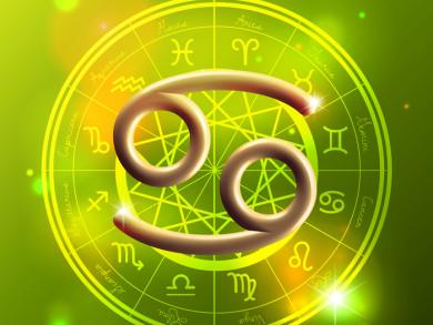 Zodiac Cancer golden sign