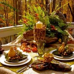 Outdoor-ferns-and-woods-table