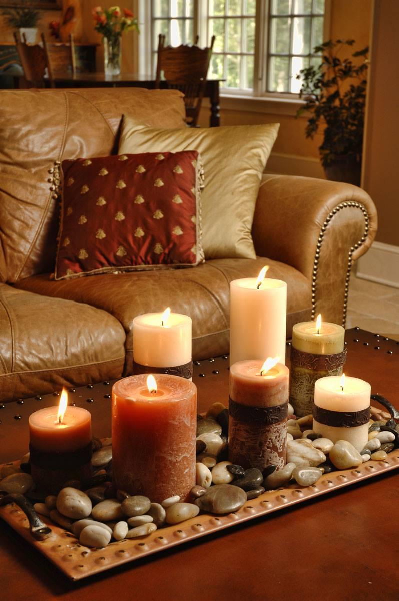 candles-pebbles