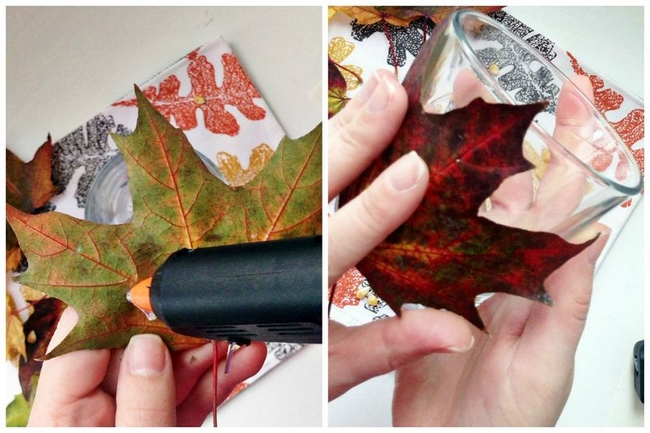 diy-fall-decorating-ideas-candle-holders-autumn-maple-leaves