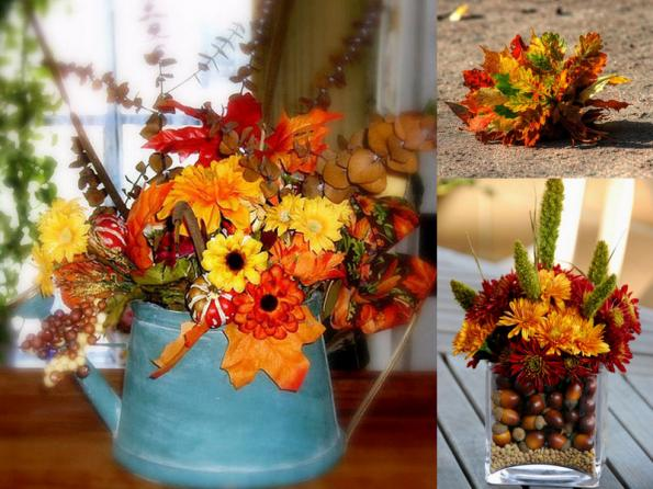 diy-thanksgiving-centerpieces-bouquets-fall-flowers-leaves