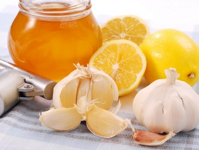 honey,garlic and lemon
