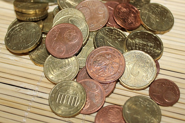 Euro Coins Specie Loose Change Money € Coin