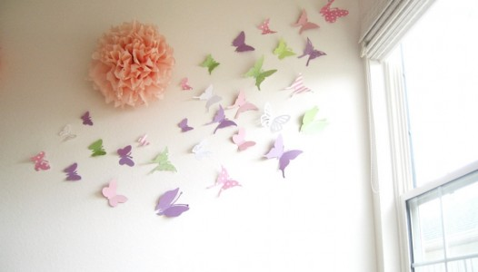 30 Butterflies 3d Butterfly Wall Art 3d  Simplychiclily On Etsy 3d Butterflies Wall Decor Amazing 3d Butterflies Wall Decor Ideas}