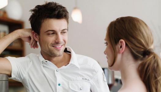 BFGPK8 Man flirting for woman