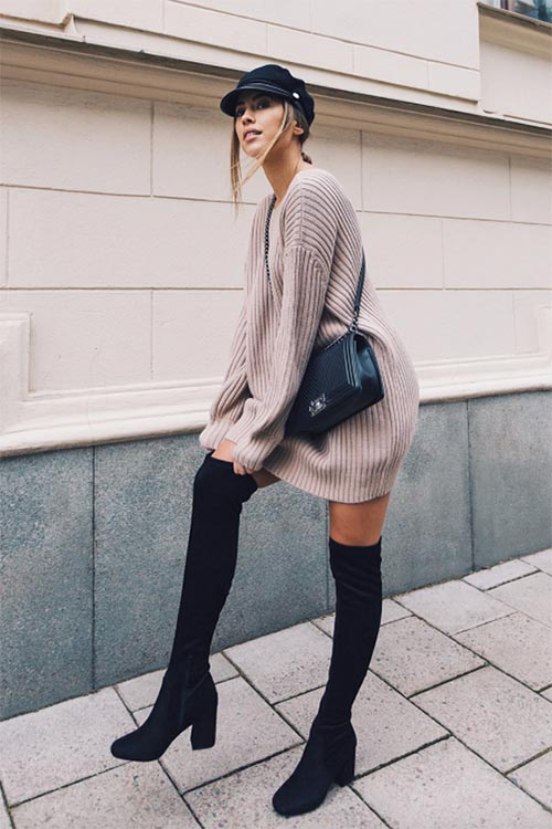 shoes_to_wear_with_sweater_dresses