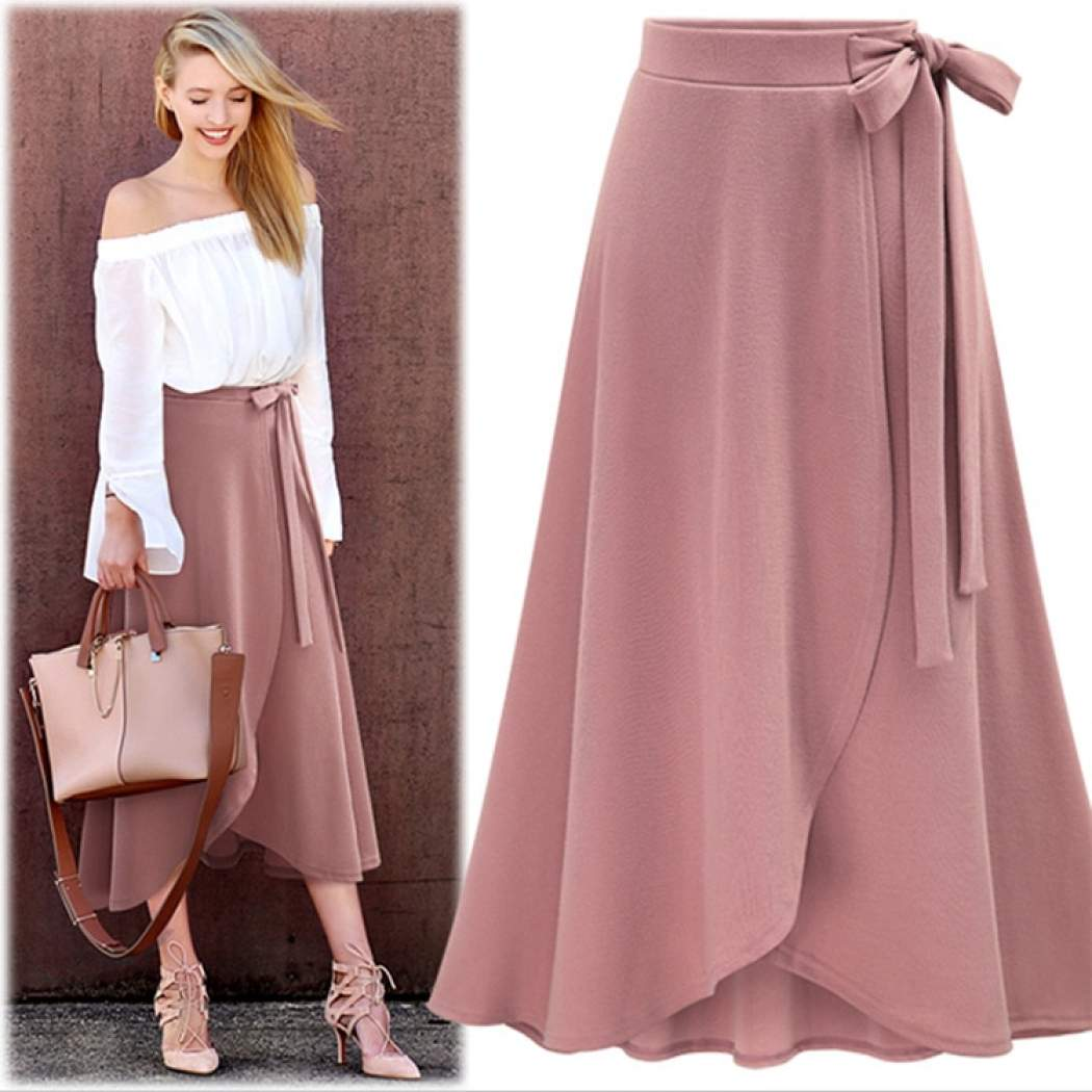 The-latest-style-of-women-s-skirt-high-waisted-split-skirt-with-medium-and-long-style